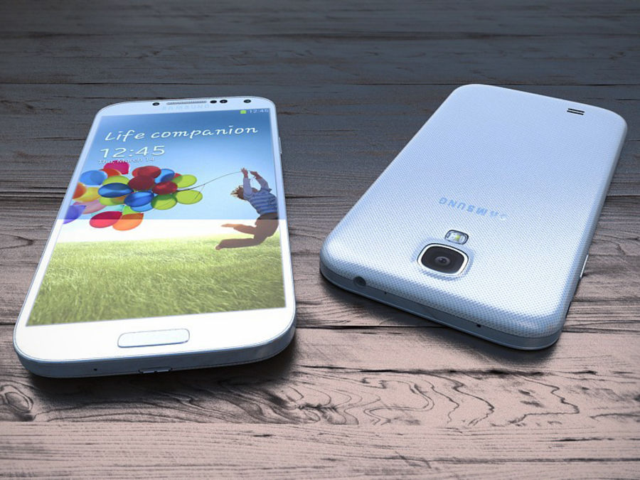Samsung Galaxy S3 and S4 royalty-free 3d model - Preview no. 7