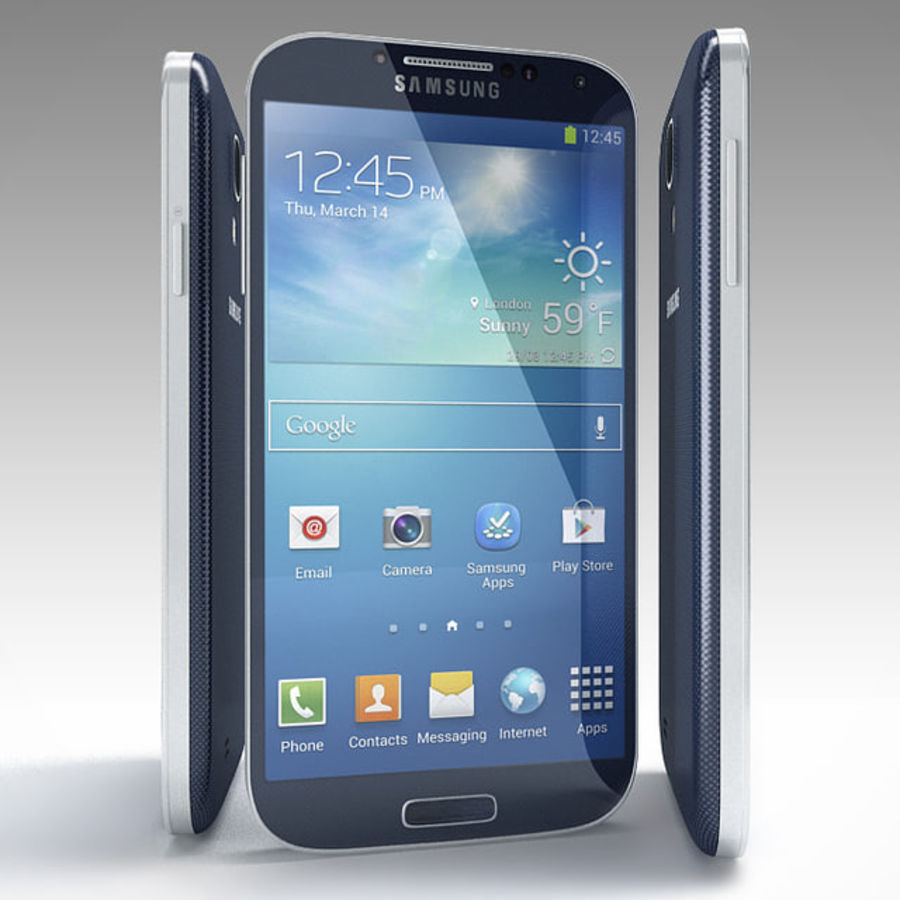 Samsung Galaxy S3 and S4 royalty-free 3d model - Preview no. 25