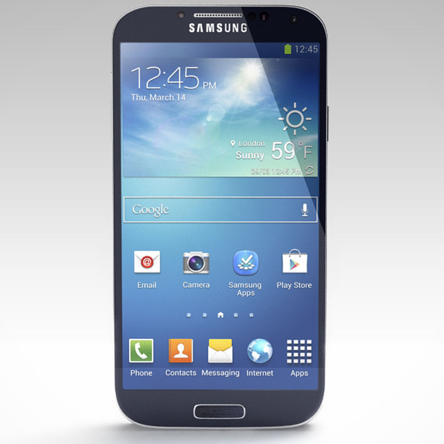 Samsung Galaxy S3 and S4 royalty-free 3d model - Preview no. 21