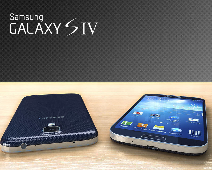 Samsung Galaxy S3 and S4 royalty-free 3d model - Preview no. 28