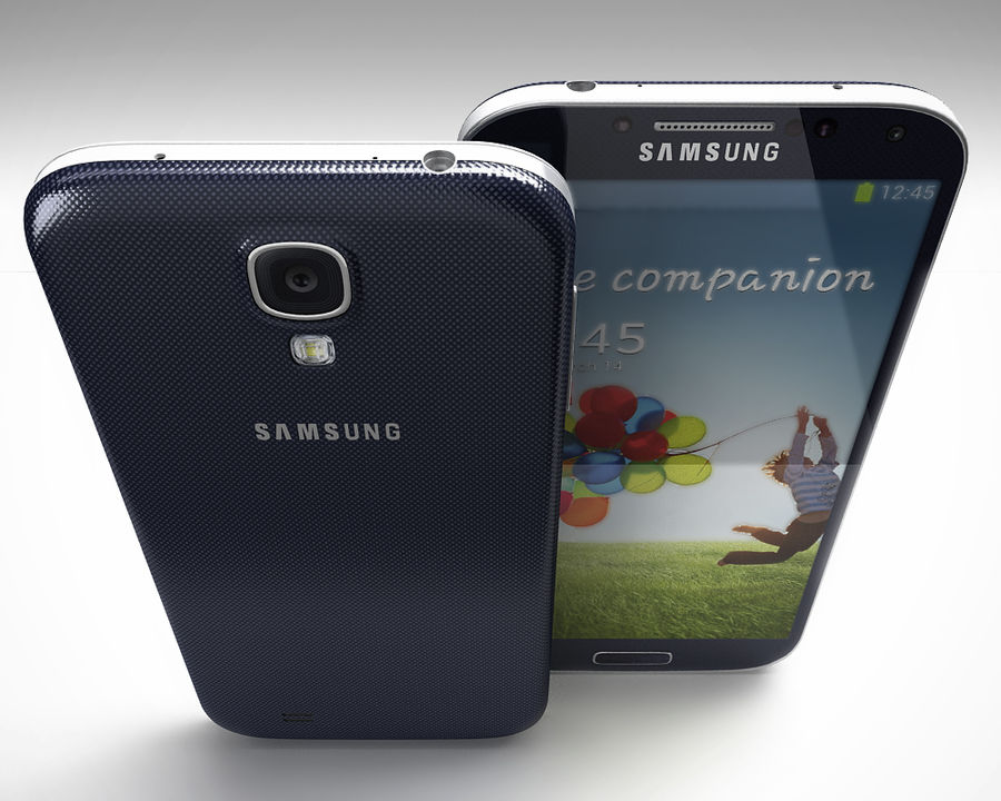 Samsung Galaxy S3 and S4 royalty-free 3d model - Preview no. 4