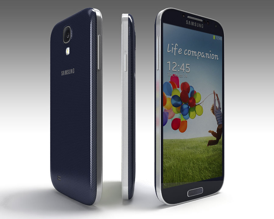 Samsung Galaxy S3 and S4 royalty-free 3d model - Preview no. 9