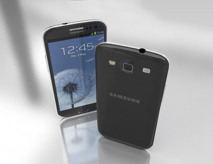 Samsung Galaxy S3 and S4 royalty-free 3d model - Preview no. 10