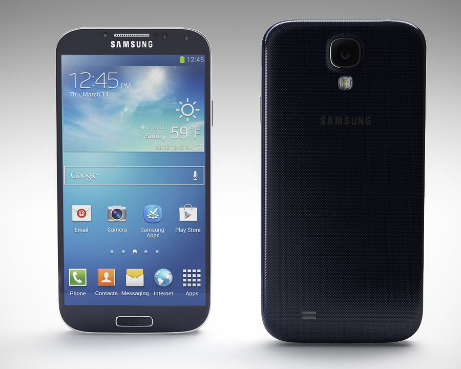 Samsung Galaxy S3 and S4 royalty-free 3d model - Preview no. 22