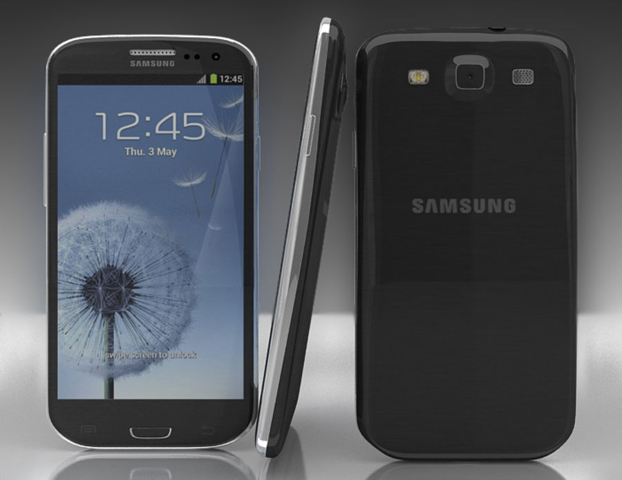 Samsung Galaxy S3 and S4 royalty-free 3d model - Preview no. 6