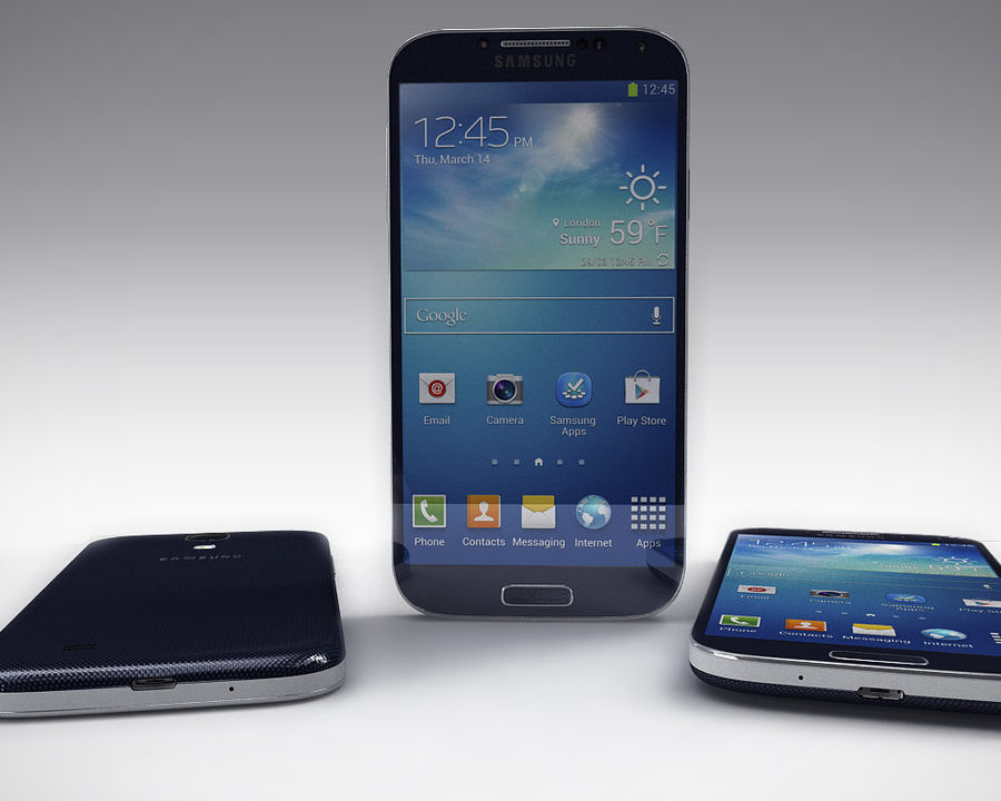 Samsung Galaxy S3 and S4 royalty-free 3d model - Preview no. 27
