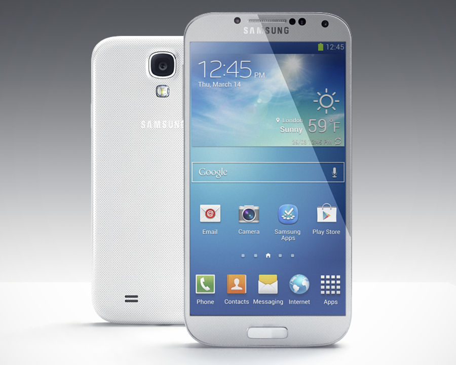 Samsung Galaxy S3 and S4 royalty-free 3d model - Preview no. 24
