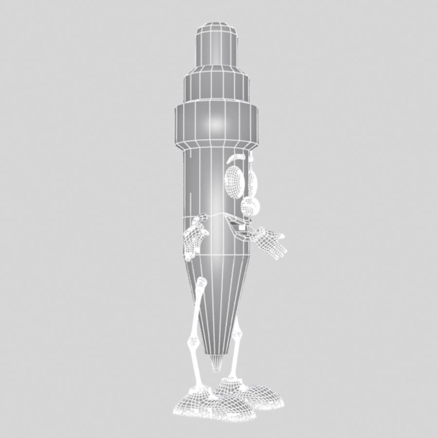 Pen Character royalty-free 3d model - Preview no. 13
