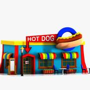 Cartoon Hot Dog Restaurant 3d model
