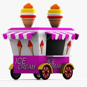 Cartoon Ice Cream Cart 3d model