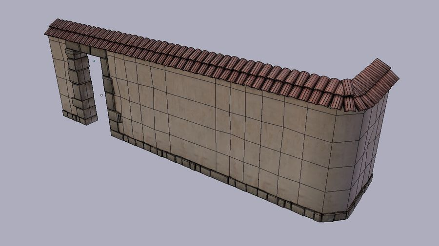 Stone wall royalty-free 3d model - Preview no. 7