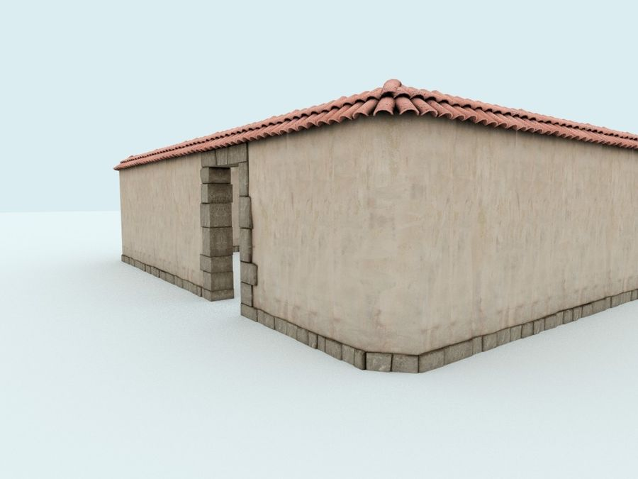 Stone wall royalty-free 3d model - Preview no. 2