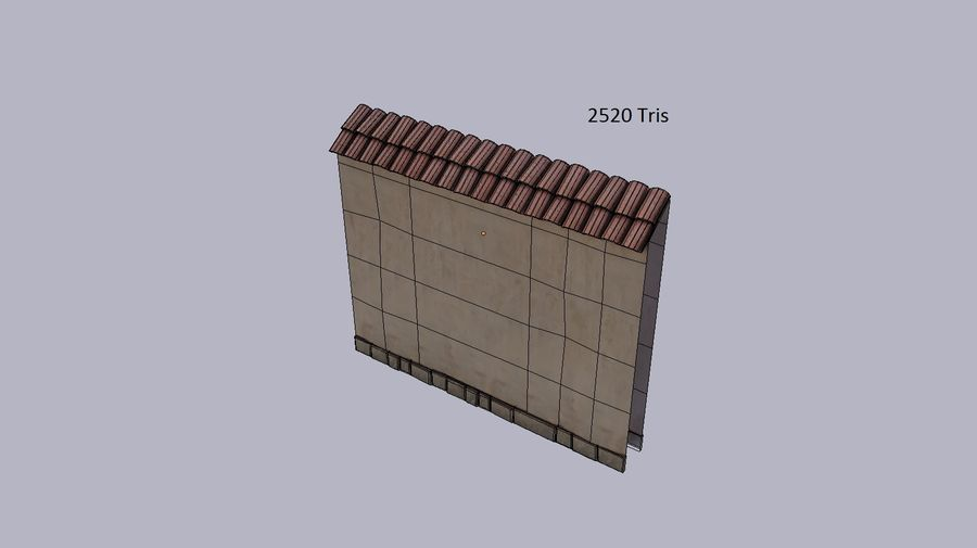 Stone wall royalty-free 3d model - Preview no. 5