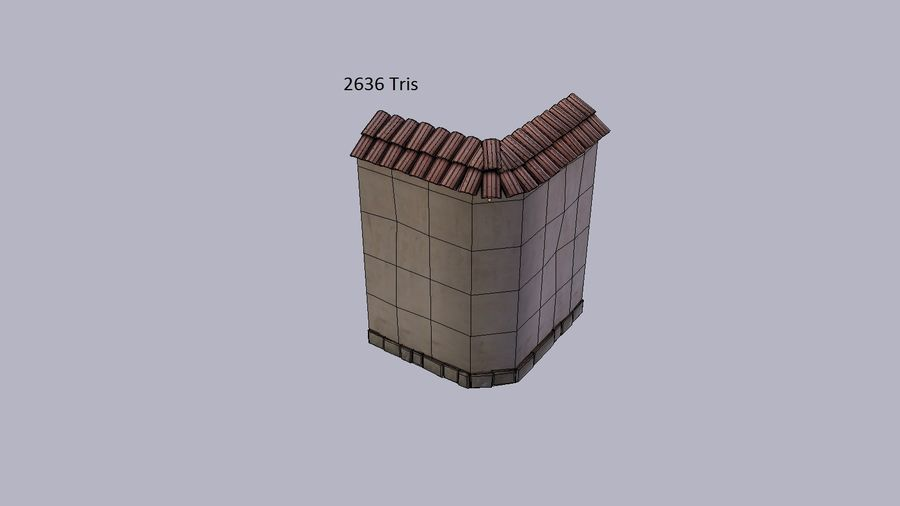 Stone wall royalty-free 3d model - Preview no. 6