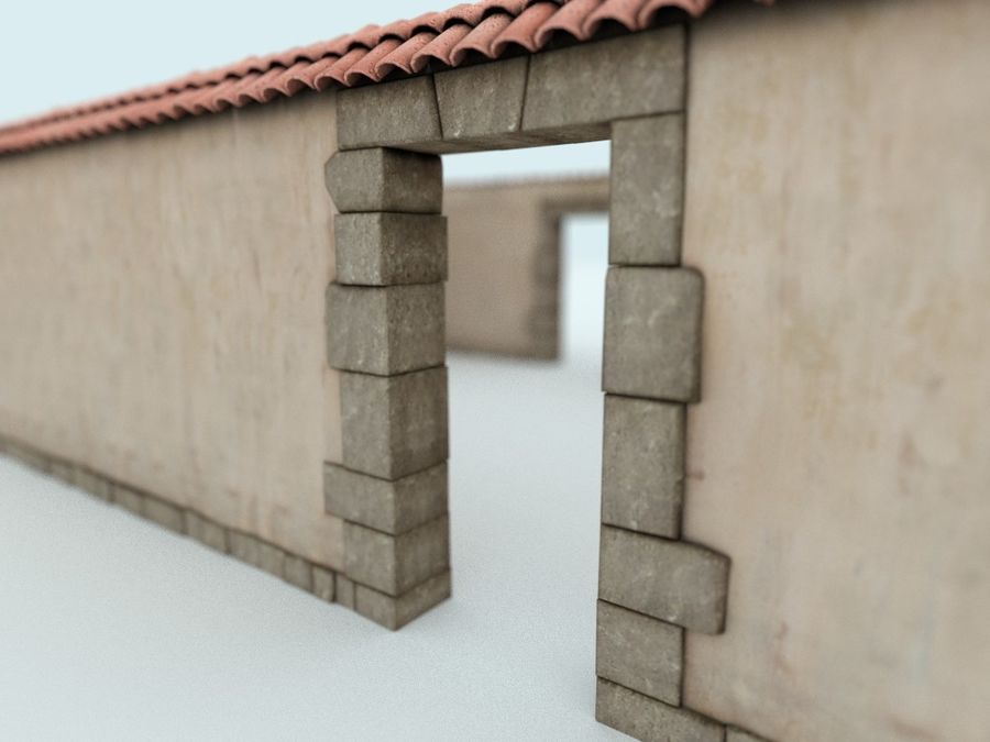 Stone wall royalty-free 3d model - Preview no. 1