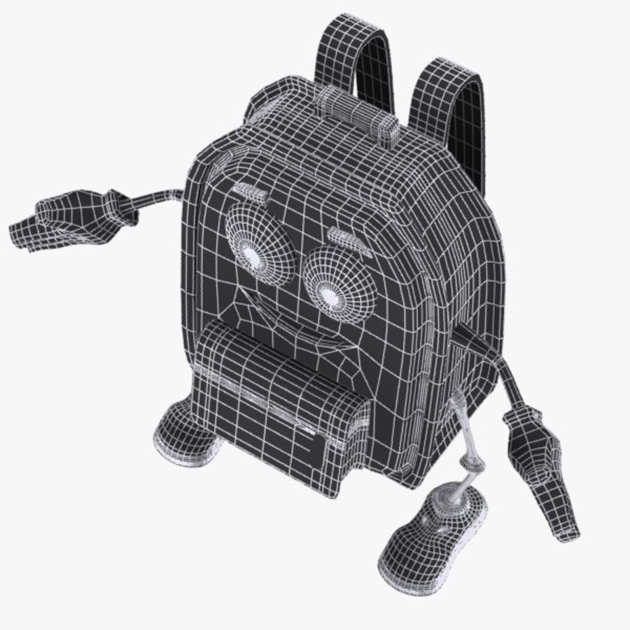 School Bag Character 3D Model $14 -  unknown  obj  max  fbx