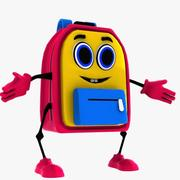 School Bag Character 3d model