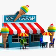 Cartoon Ice Cream Cafe 3d model