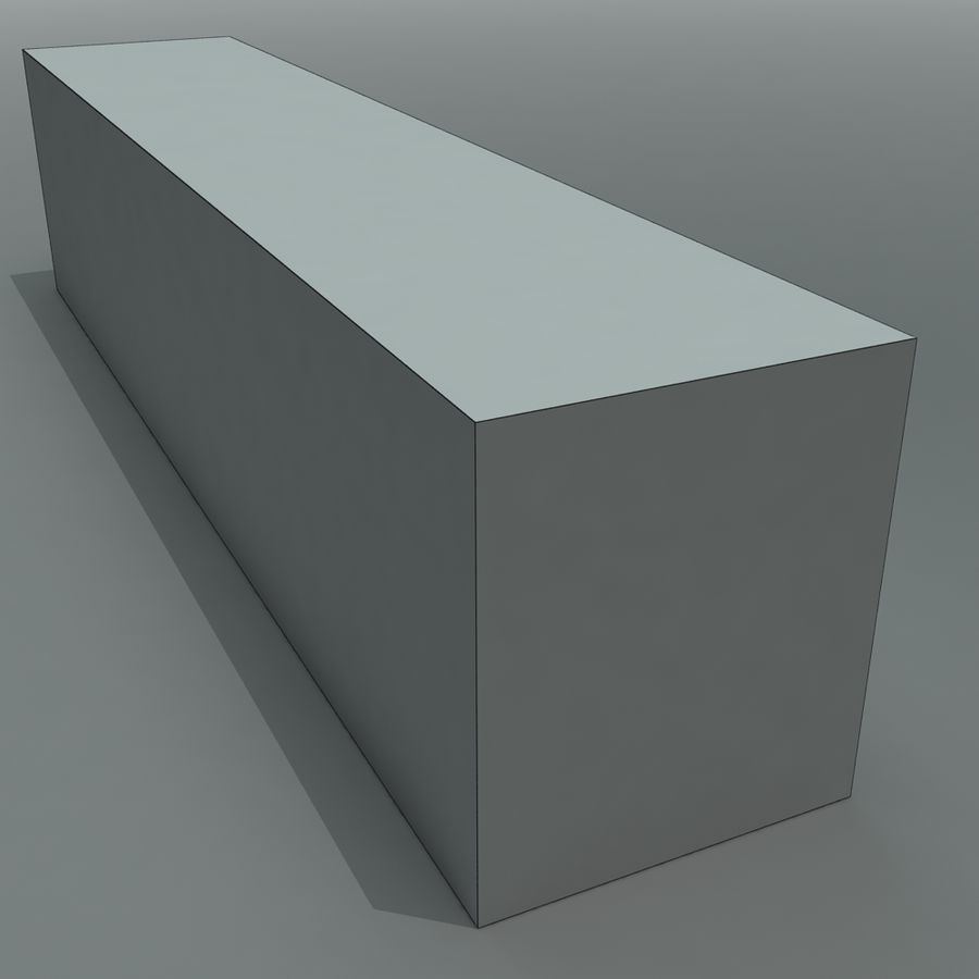 Cargo Shipping Container royalty-free 3d model - Preview no. 8