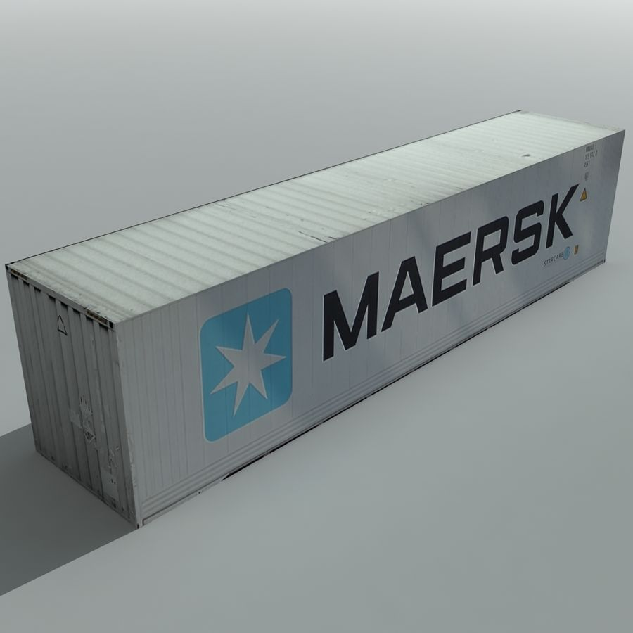 Cargo Shipping Container royalty-free 3d model - Preview no. 5