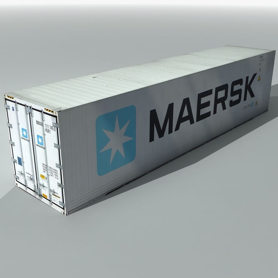 Cargo Shipping Container royalty-free 3d model - Preview no. 2