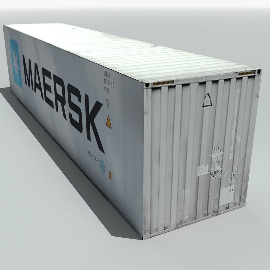Cargo Shipping Container royalty-free 3d model - Preview no. 6