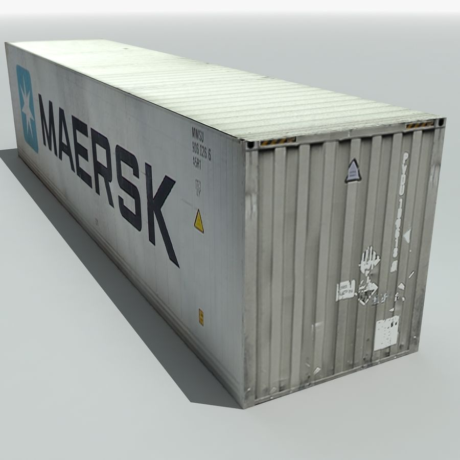 Cargo Shipping Container royalty-free 3d model - Preview no. 7