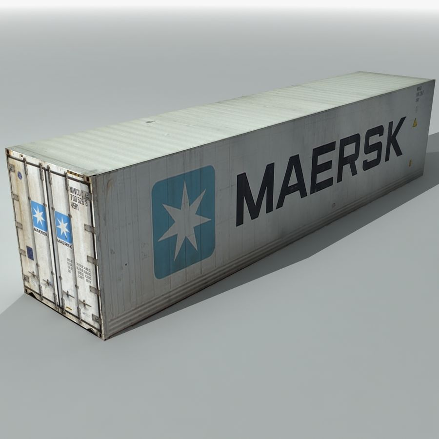 Cargo Shipping Container royalty-free 3d model - Preview no. 1