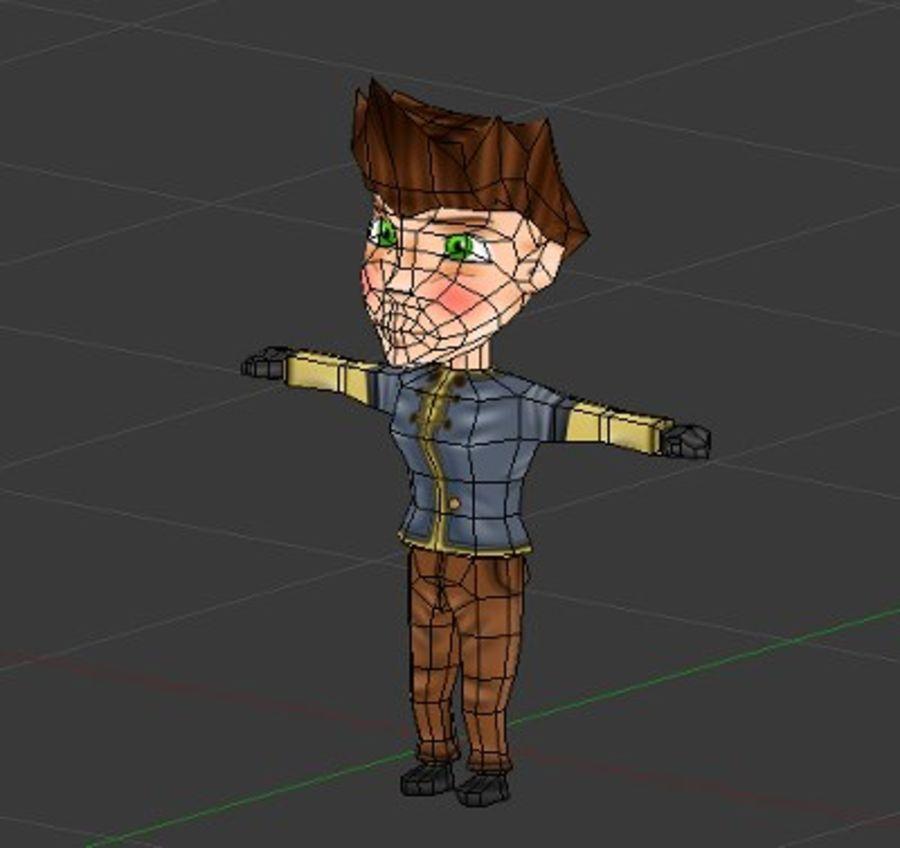 RPG Chibi Characters Pack 3D Model $12 -  blend  obj  fbx