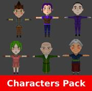 RPG Chibi Characters Pack 3d model