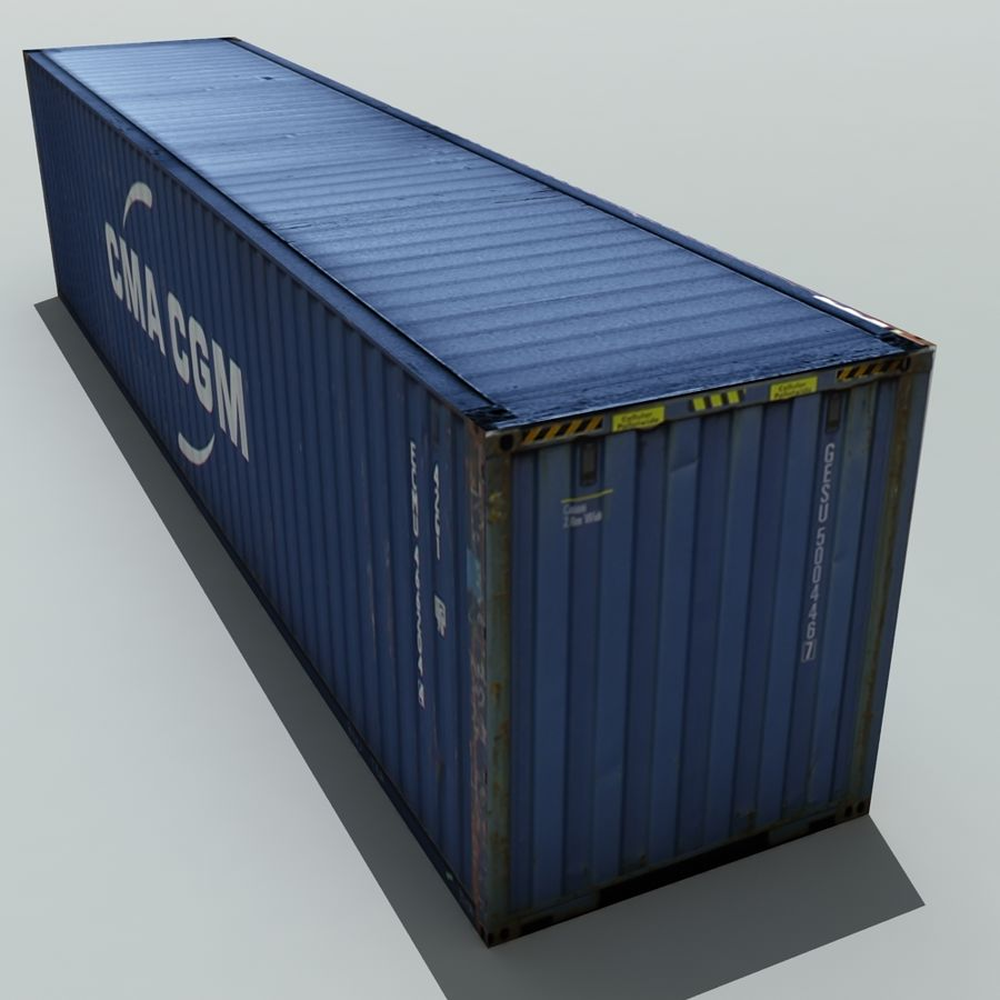 Cargo Shipping Container royalty-free 3d model - Preview no. 3