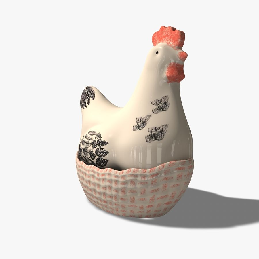 Chicken Pot royalty-free 3d model - Preview no. 4