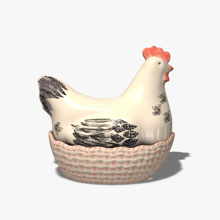 Chicken Pot royalty-free 3d model - Preview no. 5