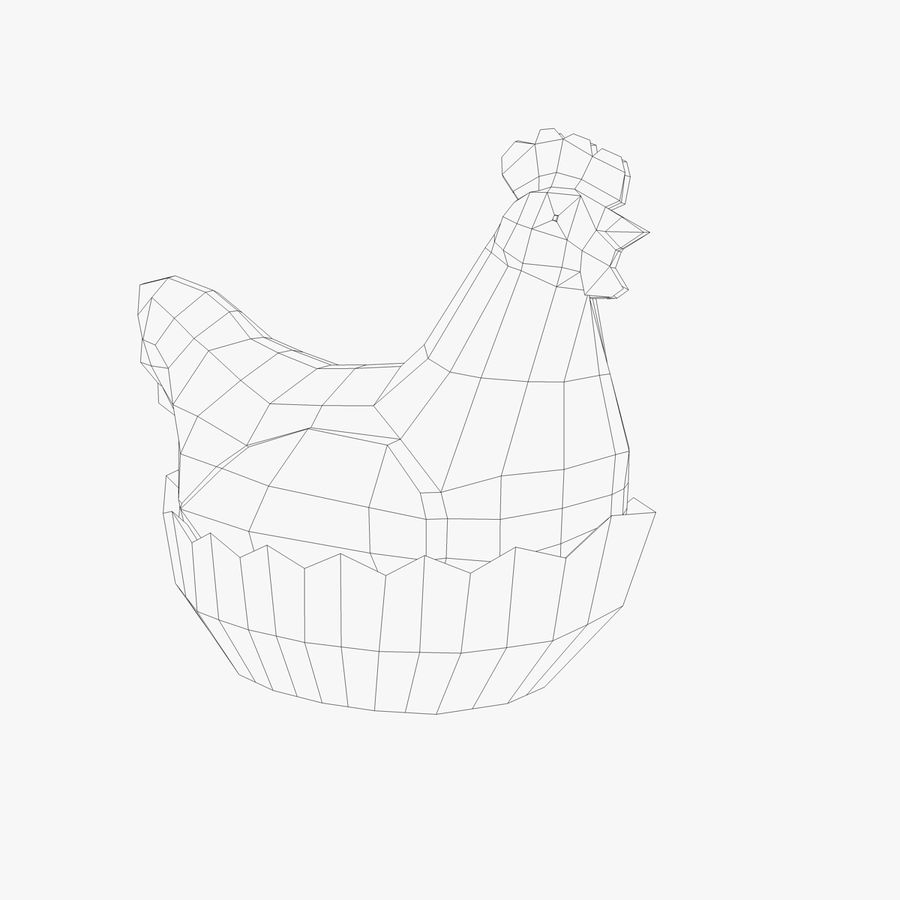 Chicken Pot royalty-free 3d model - Preview no. 3