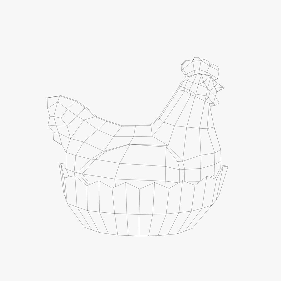 Chicken Pot royalty-free 3d model - Preview no. 7