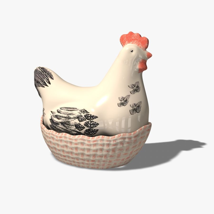 Chicken Pot royalty-free 3d model - Preview no. 1