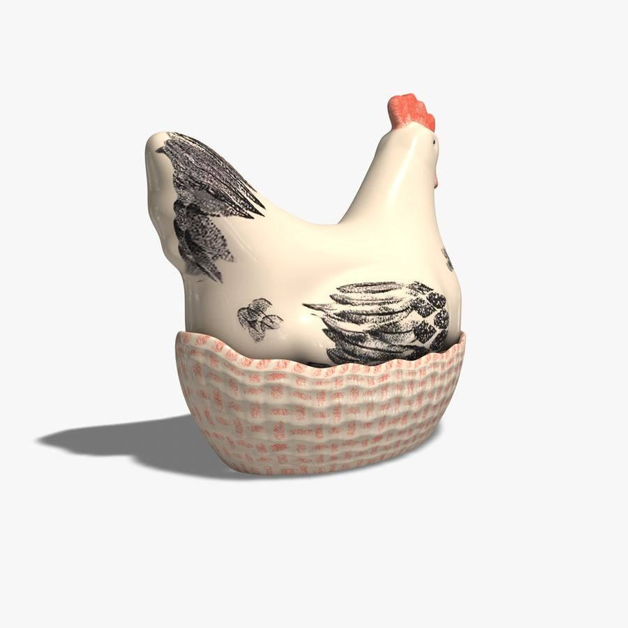 Chicken Pot royalty-free 3d model - Preview no. 8