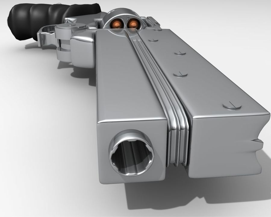 Vashs Gun royalty-free 3d model - Preview no. 1