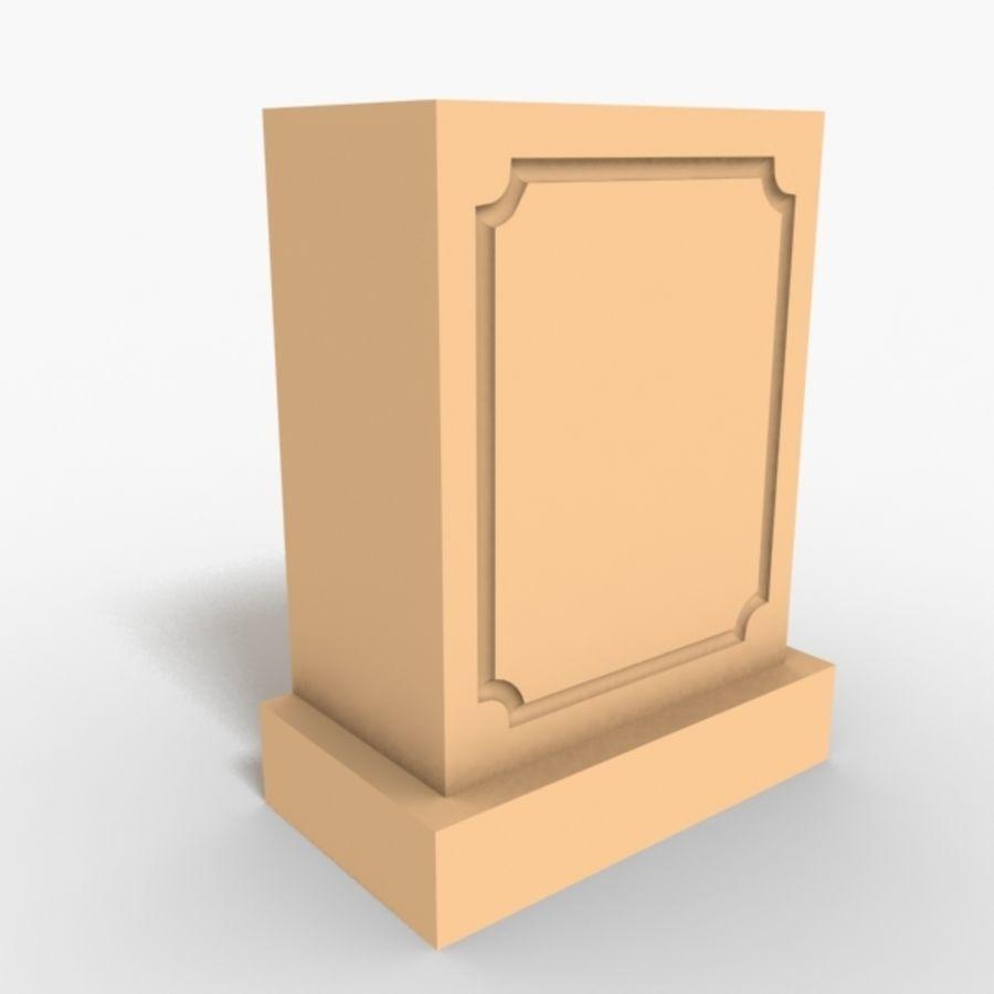 Plinth Block 007 royalty-free 3d model - Preview no. 1