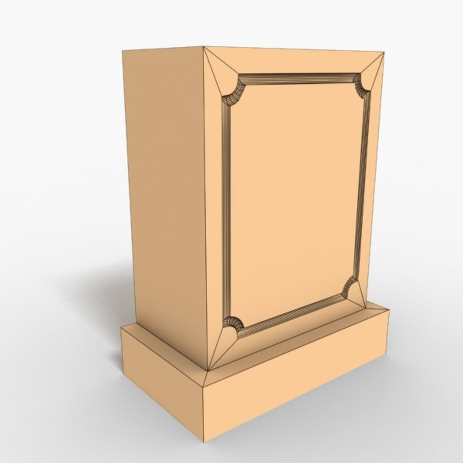 Plinth Block 007 royalty-free 3d model - Preview no. 4