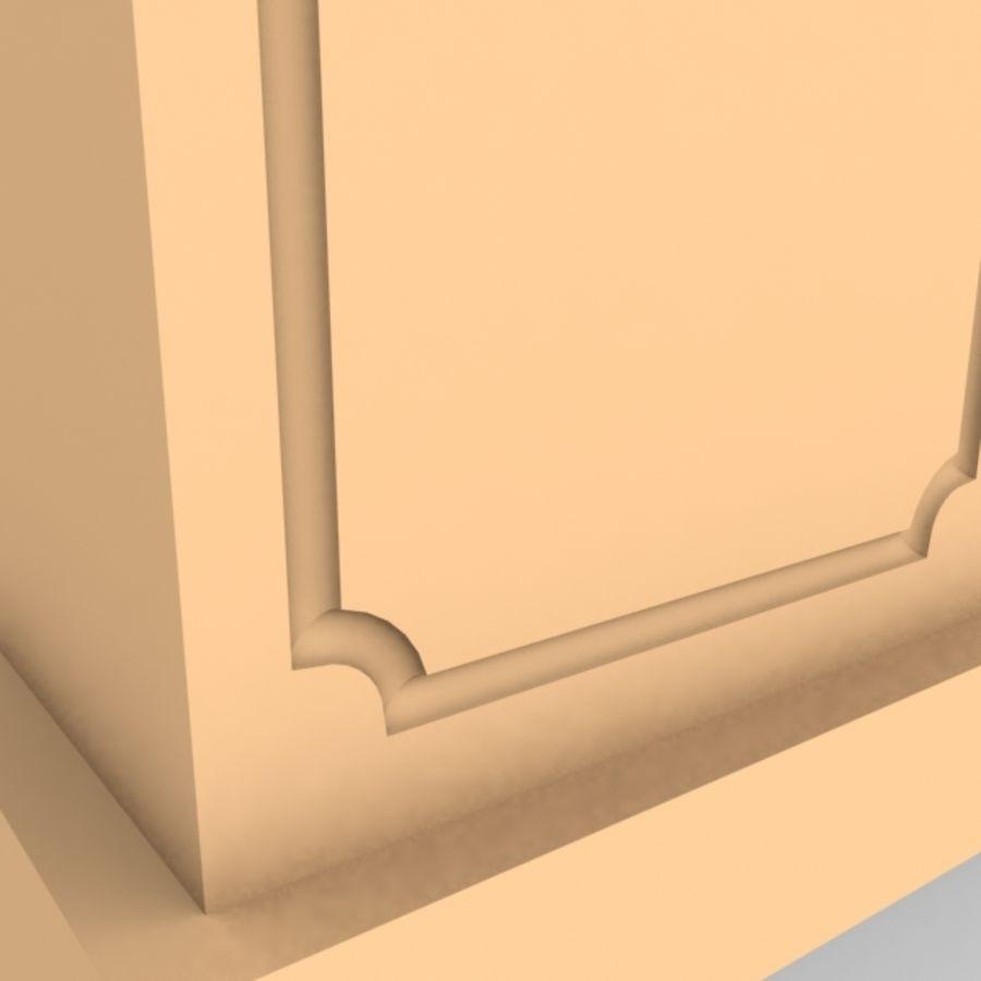 Plinth Block 007 royalty-free 3d model - Preview no. 3