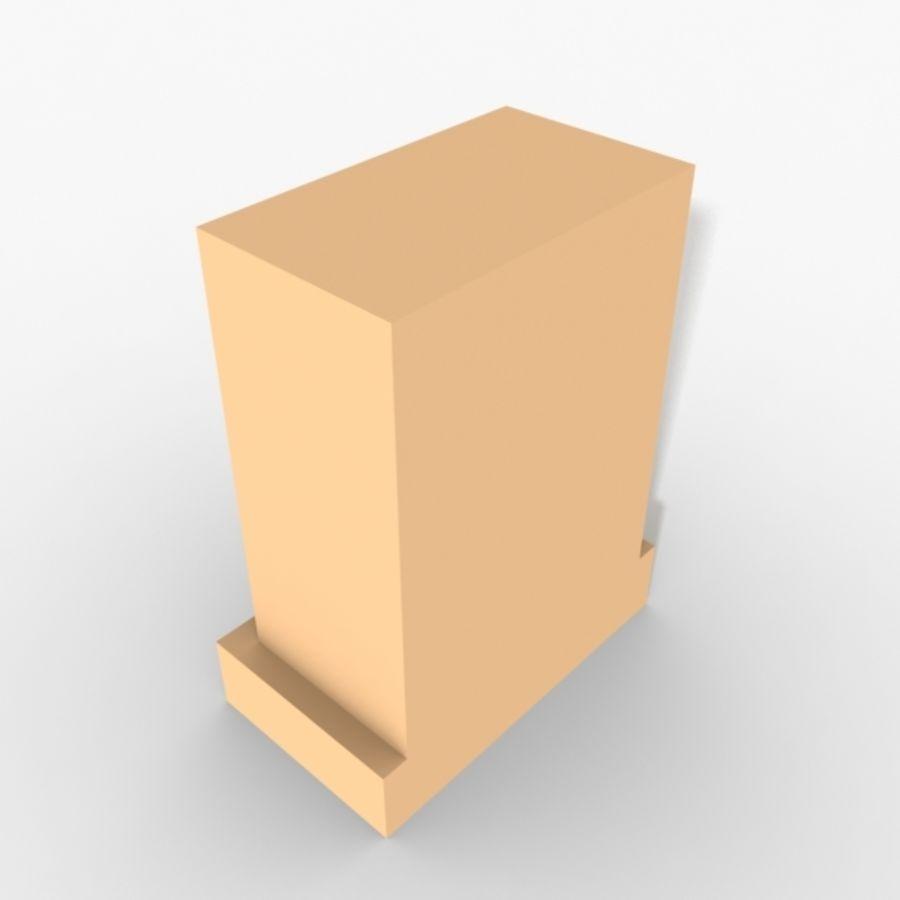 Plinth Block 007 royalty-free 3d model - Preview no. 2