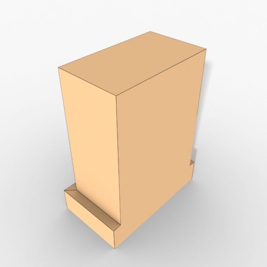 Plinth Block 007 royalty-free 3d model - Preview no. 5