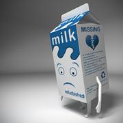 Milk Box Character 3d model