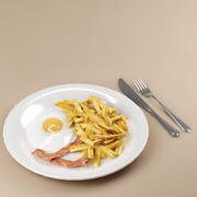 food_02 (eggs bacon french fries ) 3d model