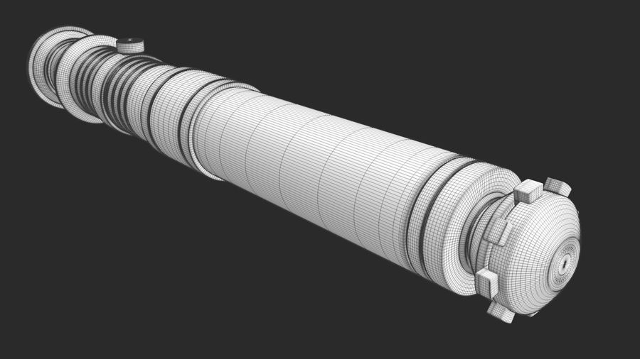 Darth Revan Lightsaber royalty-free 3d model - Preview no. 24