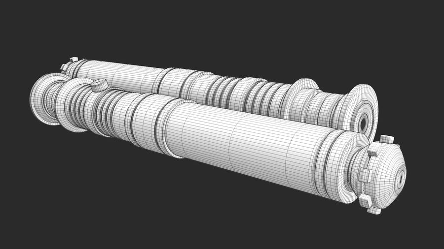 Darth Revan Lightsaber royalty-free 3d model - Preview no. 26