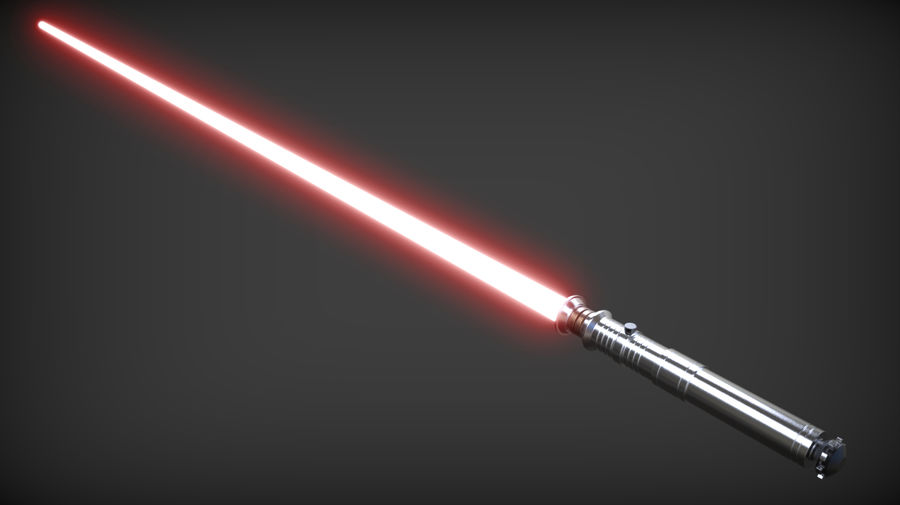 Darth Revan Lightsaber royalty-free 3d model - Preview no. 4