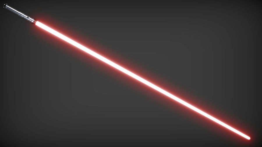Darth Revan Lightsaber royalty-free 3d model - Preview no. 6