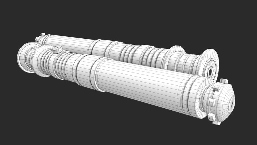 Darth Revan Lightsaber royalty-free 3d model - Preview no. 27
